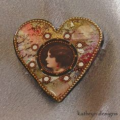 KathrynDesigns on Artfire has some really unique jewelry! This one would be perfect for Valentine's Day!
