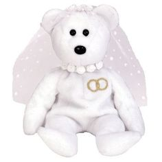 Mrs. the wedding bear ty beanie baby - retired