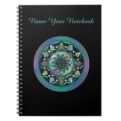 Personalized Celtic Mandala with Mystical Symbols Note Book   #Celtic  #mandala