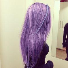#purple hair #lavendar