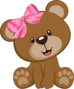 Cute Baby Girl Bear Clipart Cartoon Picture Images Free To Copy For Your Own Personal Use. Baby Shawer, Cute Baby Girl, Baby Toys, Cute Babies, Clipart Baby, Baby Shower Oso, Baby Elefant, Baby Icon, Canson