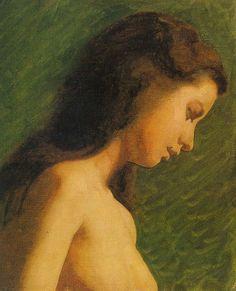 "dappledwithshadow: "" Study of a Girl's Head, Thomas Eakins c. 1868 """