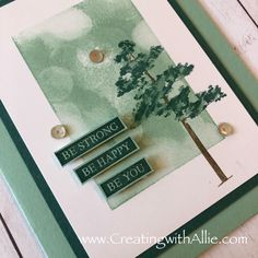 Stampin' Up! rooted in nature, bokeh dots Send A Card, Stampin Up Catalog, Card Making Tutorials, Friendship Cards, Cool Cards, Easy Cards, Sympathy Cards, Greeting Cards Handmade, Stampin Up Cards