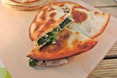 Krokante spinazie-feta wraps