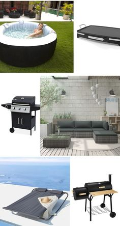 spa gonflable rond pas cher aménager jardin relaxation meuble barbecue Relaxation, Parasol, Diy, Gardens, Houses, Small Terrace, Narrow Balcony, Water Games, Bricolage