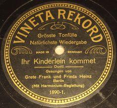 "G. FRANK & F. HEINZ ""Ihr Kinderlein kommet"" VINETA REKORD rare Lbl. 78rpm 10"""