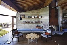 Scenic Living Room - Architect Mickey Muennig, Big Sur.