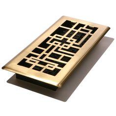 Decor Grates ABH412-SB Abstract Floor Register, Satin Brass Finish, 4-Inch by 12-Inch Decor Grates http://www.amazon.com/dp/B004TW88GS/ref=cm_sw_r_pi_dp_RBsbub107QYMP