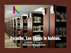La Biblioteca Juan Alberto Aragón Bateman recuerda hoy su campaña por el silencio, una iniciativa permanente que tiene el propósito de fomentar buenos hábitos de comportamiento y de respeto por el otro en la Biblioteca.