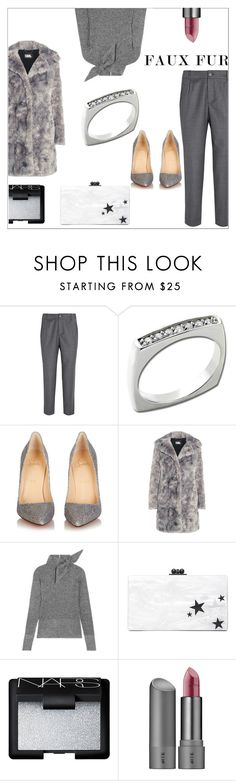 """""""Anastazio-faux fur"""" by anastazio-kotsopoulos ❤ liked on Polyvore featuring A.P.C., Anastazio, Christian Louboutin, Karl Lagerfeld, Isabel Marant, Edie Parker, NARS Cosmetics and Bite"""