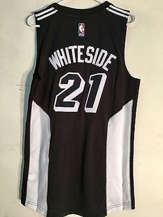 Adidas Swingman 2015-16 NBA Jersey Miami Heat Hassan Whiteside Black Fashion  S