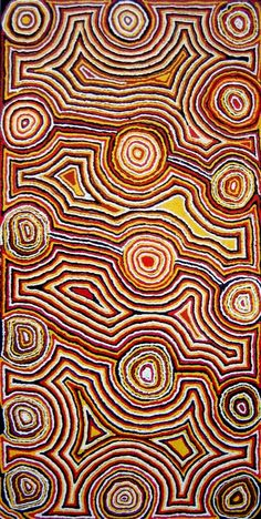 Mick Gill Tjakamarra ~ Water Dreaming at Lappilapi, 1991