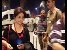 Divya Dutta at Mumbai Airport leaving for IIFA Awards 2014.