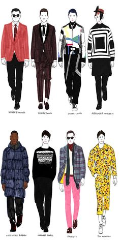 LC:M Sketches by Janelle Burger #illustration #fashionillustration #sketches