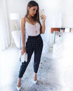 42 best vintage summer outfits ideas you will love 10 - Outfit ideen - Plad Outfits, Mode Outfits, Classy Outfits, Chic Outfits, Trendy Outfits, Beautiful Outfits, Fashion Outfits, Womens Fashion, Formal Outfits