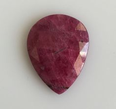 15.80CT NATURAL RUBY LOOSE GEMSTONES PEAR FLAT ROSECUT SLICE RED UNTREATED 17X22 #ROUNDSNROSES Natural Ruby, Loose Gemstones, Pear, Nature, Naturaleza, Nature Illustration, Off Grid, Bulb, Natural