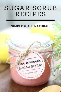 Easy Sugar Scrub Recipes that are inexpensive, easy to make, and all-natural. The perfect DIY Sugar Scrubs for yourself or to give as gifts. Body Scrub Recipe, Sugar Scrub Recipe, Diy Body Scrub, Diy Scrub, Bath Scrub, Sugar Hand Scrub, Sugar Scrub For Face, Neutrogena, Zucker Schrubben Diy