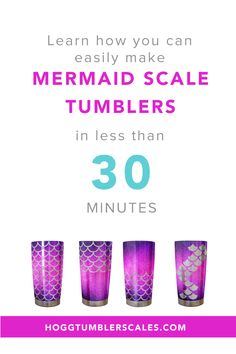 Our product will teach you how you can easily make beautiful Mermaid Scale Tumblers for your custom tumbler business.  It takes less than 30 minutes to create these fan favorites!