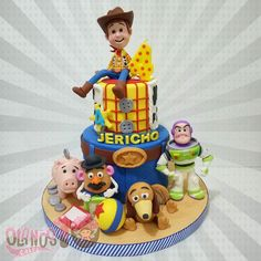 Awesome Toy Story Birthday Cake - Fantastische T Toy Story Birthday Cake, Woody Birthday, 4th Birthday Cakes, Disney Birthday, Cumple Toy Story, Festa Toy Story, Toy Story Party, Bolos Toy Story, Woody Cake