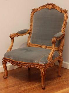Pair Louis XV  fauteuils by Louis Cresson