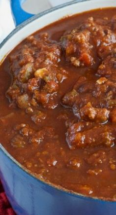 Jack's Chili ~ This is The Best Chili Recipe Made with Beef, Pork, Beans, Peppers, Beer, Cocoa Powder, and Other Seasonings For a Deliciously Complex Flavor.