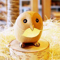 Japanese Wooden Owl Fukurou