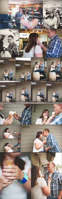 PreFunk Engagement Session, Lynnwood Engagement, Root Beer Store, Washington Photographer, Unique Engagement Photos, Urban Utopia Photography, IceCreamShop www.urbanutopiaphotography.com