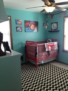 Dexter's room - red crib