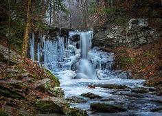 Zamarznięty, Wodospad, Ricketts Gen State Park, USA