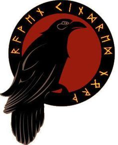 Crows Ravens:  #Raven and Runes. Logo of Raven Kindred North.