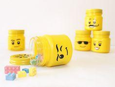 Portapenne ispirato ai LEGO creato con i barattoli di vetro #mason #jar #penholder #LEGO
