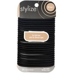 Stylize Wide No Snag Elastics, Black: These No Snag Elastics glide on and off any ponytail with ease and without pulling or tugging. These elastics have no metal parts, and are designed for thick hair. Luxury Beauty, Hair Ties, Metal, Shopping, Accessories, Black, Products, Thick Hair, Ribbon Hair Ties