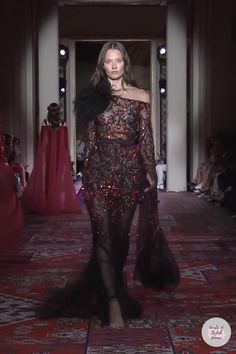 Couture Fashion, Paris Fashion, Runway Fashion, Fantasy Gowns, Mother Of Groom Dresses, Brunette Beauty, Angel Art, Zuhair Murad, Red Carpet Dresses
