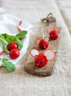 Radish mice are adorable - and tasty.