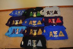A Xi D Disney letters I made for a pledge class of ten sisters.  :)