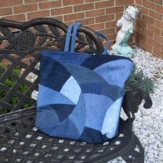 Denim Patchwork Tote Bag, Classy and Original
