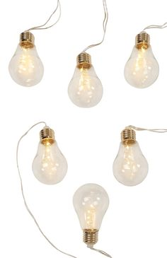 Primark - luxury 6 LED Glass Bulb Lights