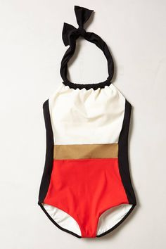 Colorblock Halter Bathingsuit