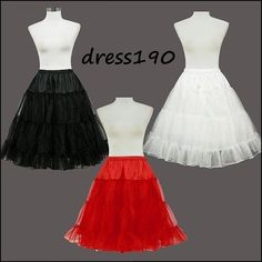 "RED/BLACK/WHITE 50s PROM/PINUP/SWING/WEDDING/BRIDESMAID 26"" PETTICOAT/UNDERSKIRT #dress190 #UnderskirtPetticoat #Party"