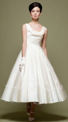 20 Stunning 50s Wedding Dresses Ideas Short Vintage DressesTea Length