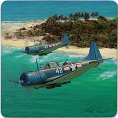 Ww2 Aircraft, Fighter Aircraft, Aircraft Carrier, Military Aircraft, Fighter Jets, Military Art, Military History, Aircraft Painting, Airplane Art