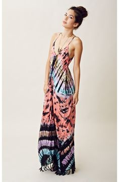 Indah Flow Maxi Dress w/ Fringe. Classic bohemian style; simple and pretty.