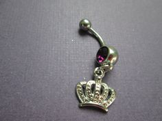 belly jewelry crown with  belly button ring