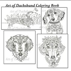 This coloring book consists of 15 hand drawn images of beautiful Dachshunds for you to color. The file is 3 high quality PDF files each containing 5