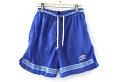 Vintage 80s 90s UMBRO soccer shorts nylon blue by 216vintageModern on Etsy