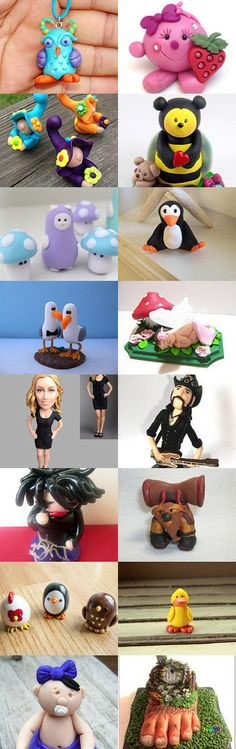 """Raw Talent"" Sculpted Polymer Clay Treasury by Mariann Carmen on Etsy -- Polymer Clay Figurines"