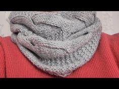 Вязание женского шарфа-снуда спицами. Видео урок. - YouTube