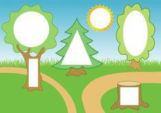 На лесной опушке - игра с геометрическими фигурами