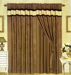 MODERN Black, Brown, and White Suede Patchwork Window Curtain / Drape Set with Sheer Backing 120-by-84-Inch Grand Linen http://www.amazon.com/dp/B006ESJ1QG/ref=cm_sw_r_pi_dp_D6ohub1A4H0S8