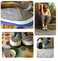 Solo con pintar las suelas tendrás unos zapatos nuevos!
